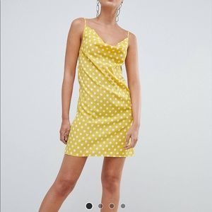 Missguided polka dot mini dress